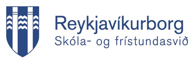 Merki Reykjavíkurborgar sem stendur á Reykjavíkurborg - Skóla- og frístundasvið.