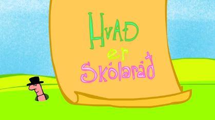 Skjáskot úr myndbandi um skólaráð